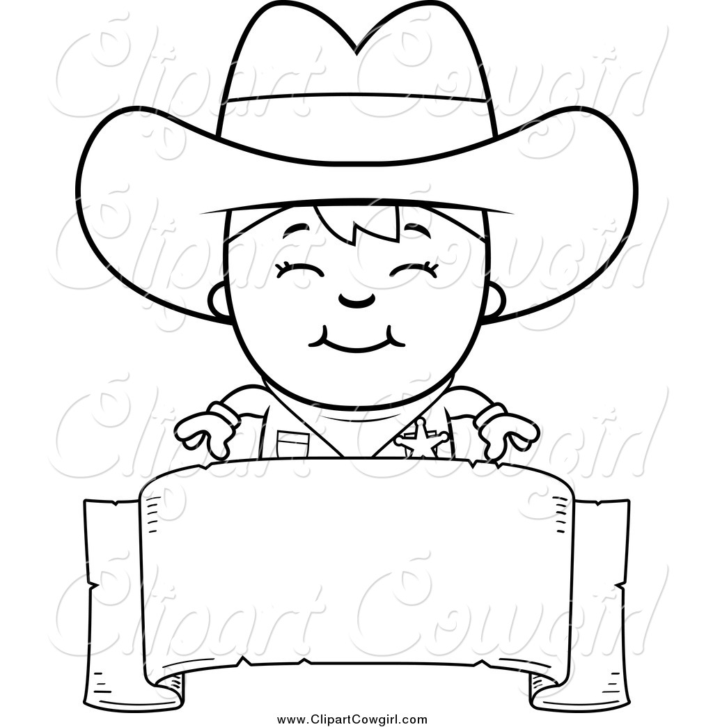 Cowboy Clipart Black And White
