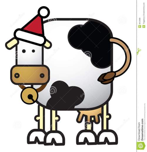 small resolution of 1260x1300 christmas cows clipart