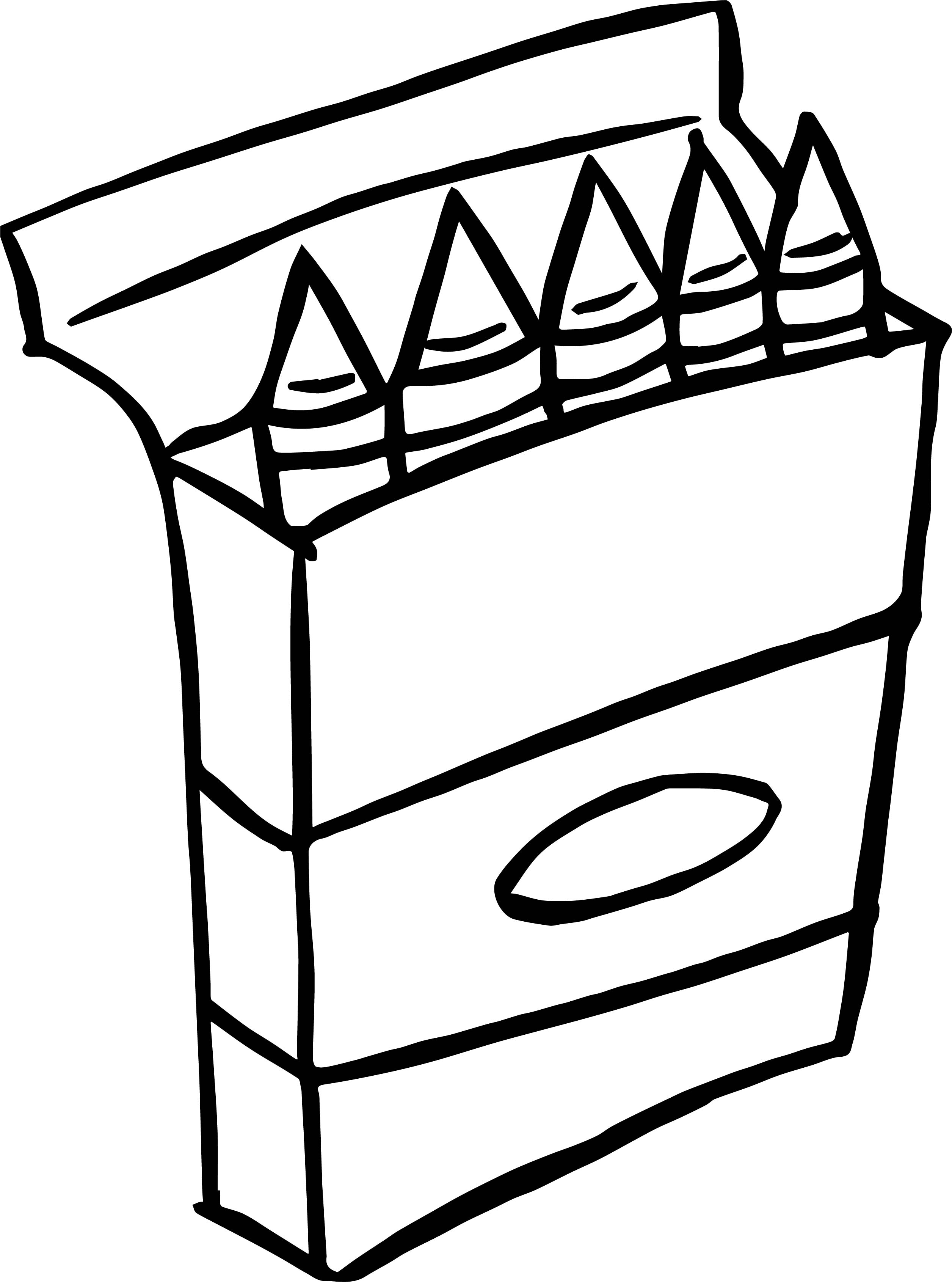 Crayons Clipart Black And White