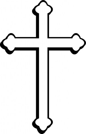 cross clip drawing catholic drawings vector crosses clipart simple roman draw drawn tattoo crucifix tattoos clipartmag cdr brushstroke colorful baptism