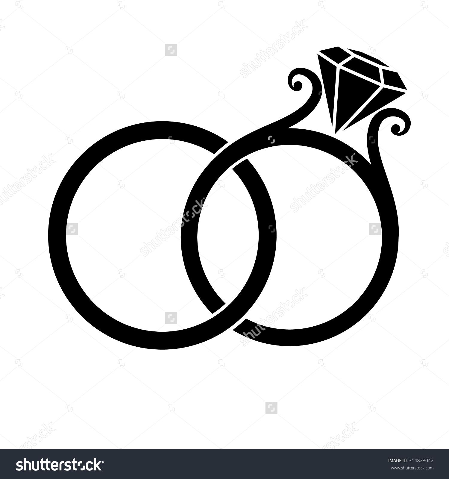 cross with wedding rings