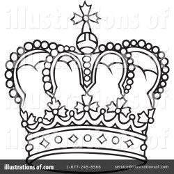 crown clipart queen king crowns drawing line illustration royalty clipartmag dero rf