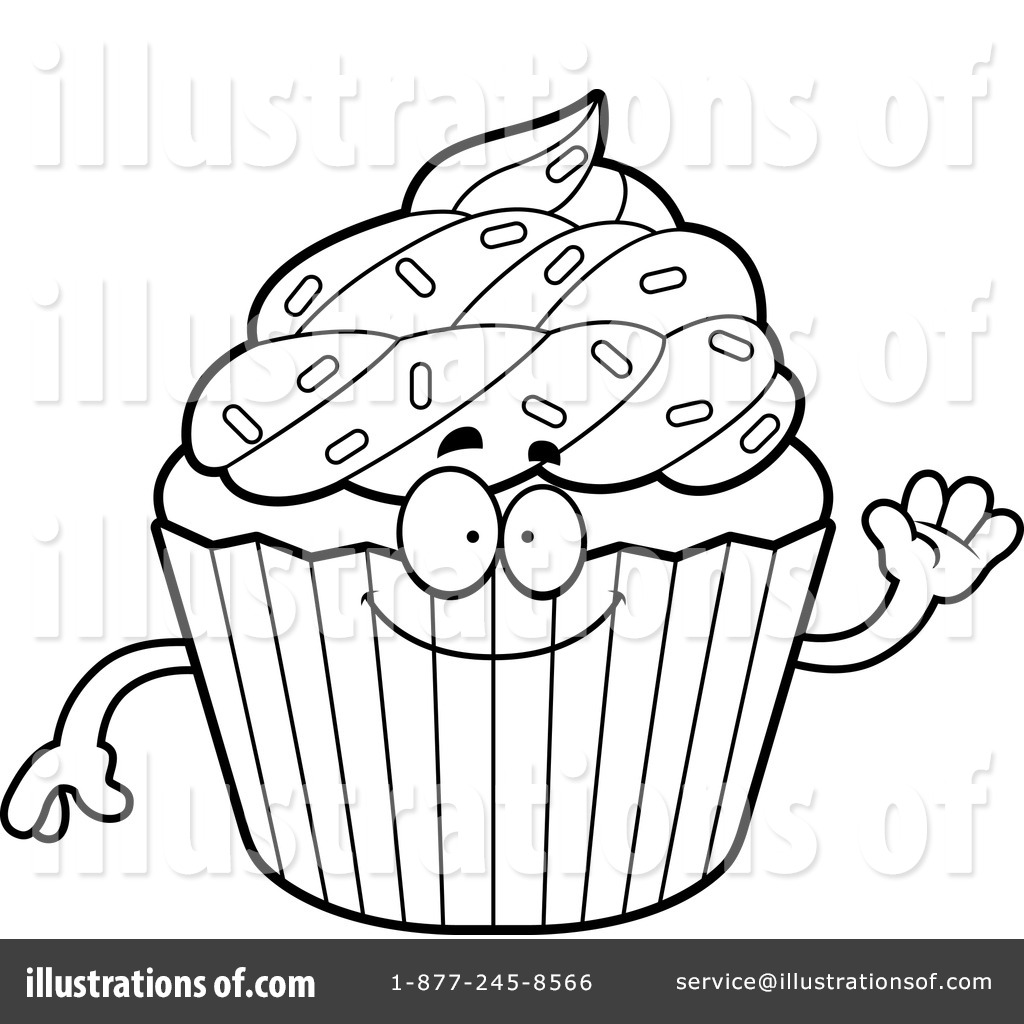 Cupcake Clipart Black And White Free