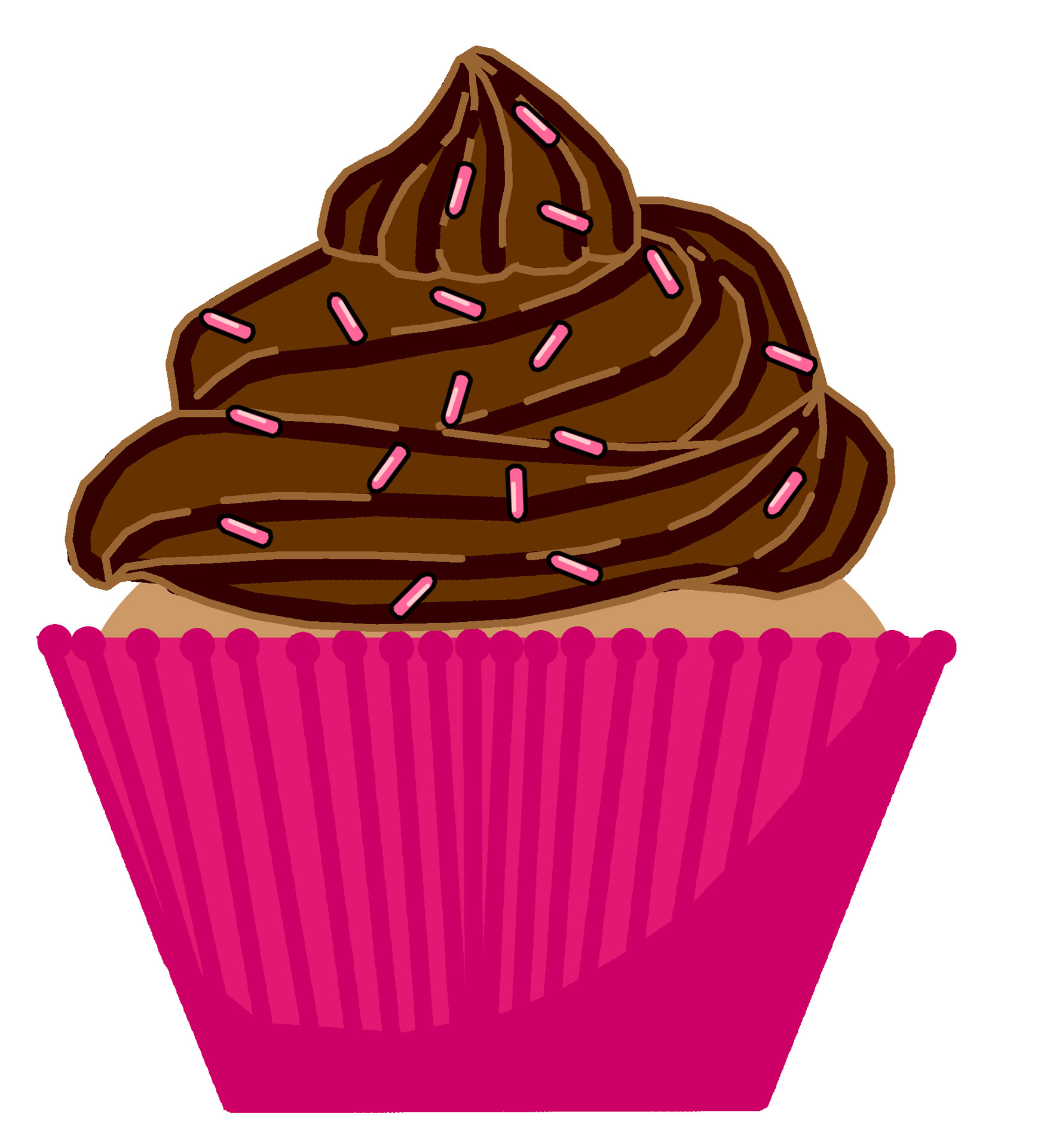 hight resolution of 1767x1920 frosting clipart cupcake sprinkle