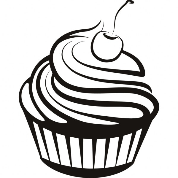 cupcake clipart outline free