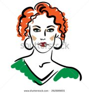 curly hair clipart free