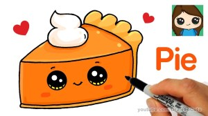 draw pie easy slice drawings cartoon unicorn cake drawing kawaii cartoons candy clipartmag thanksgiving sweet characters
