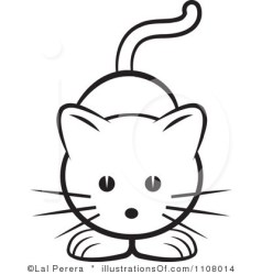 cat clipart easy drawing cats royalty clip cute simple face illustration faces cartoon kitten line drawings cartoons kitty rf lal