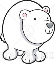 bear polar clipart cartoon plunge nose clipartmag