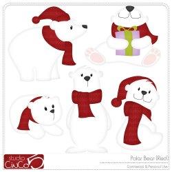 polar bear clipart christmas clipartmag