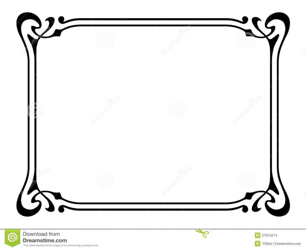 medium resolution of 1300x1064 art nouveau ornamental decorative frame