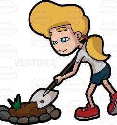 1024x949 a woman digging a bulk of soil from a garden patch [ 1024 x 949 Pixel ]