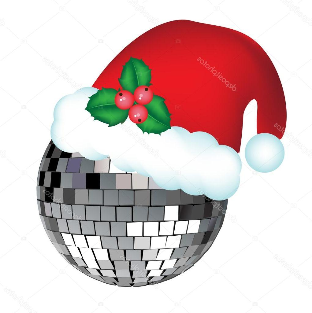 hight resolution of 1020x1024 top stock illustration disco ball with christmas hat file free