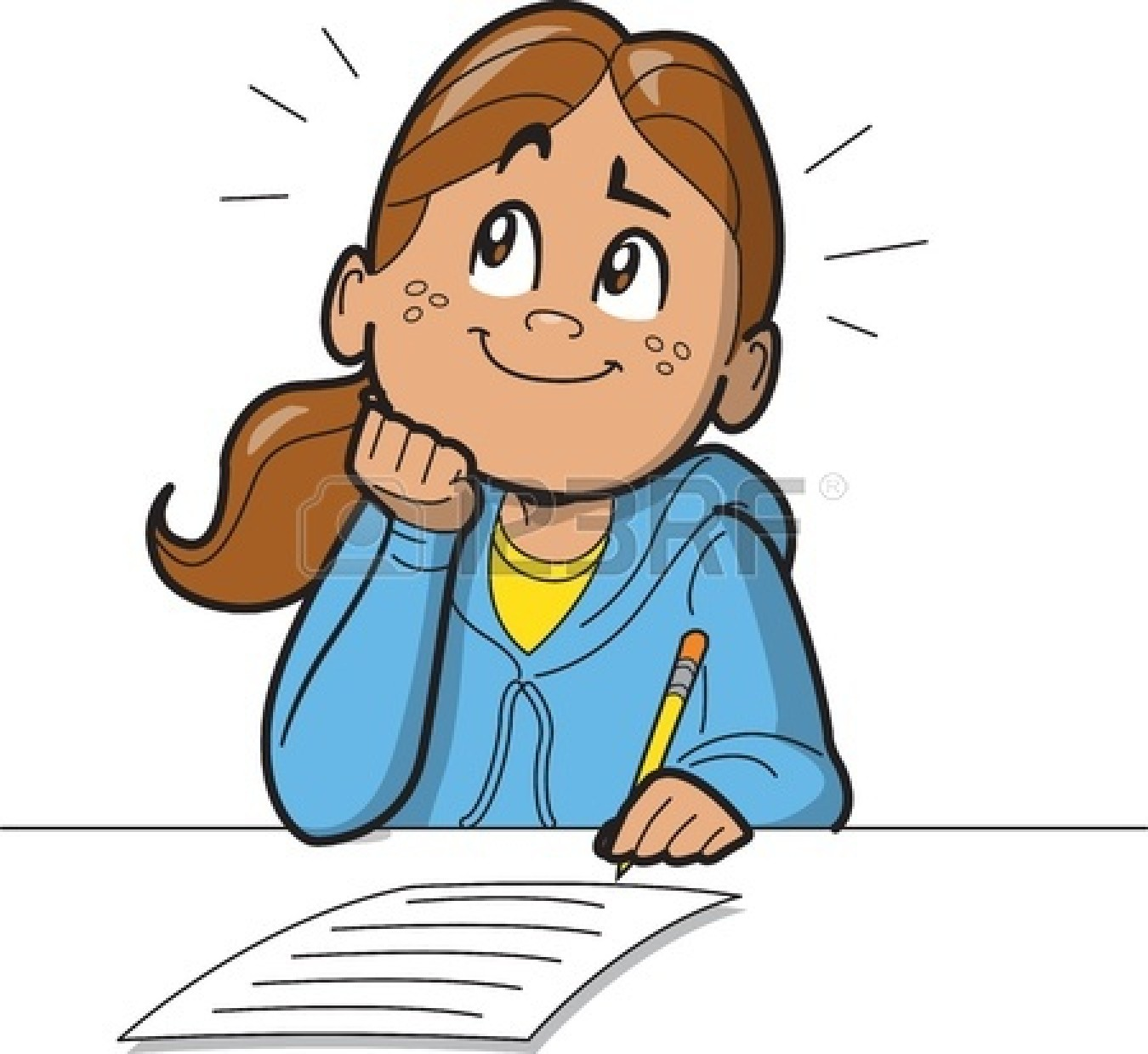 hight resolution of 1350x1239 girl writing clipart
