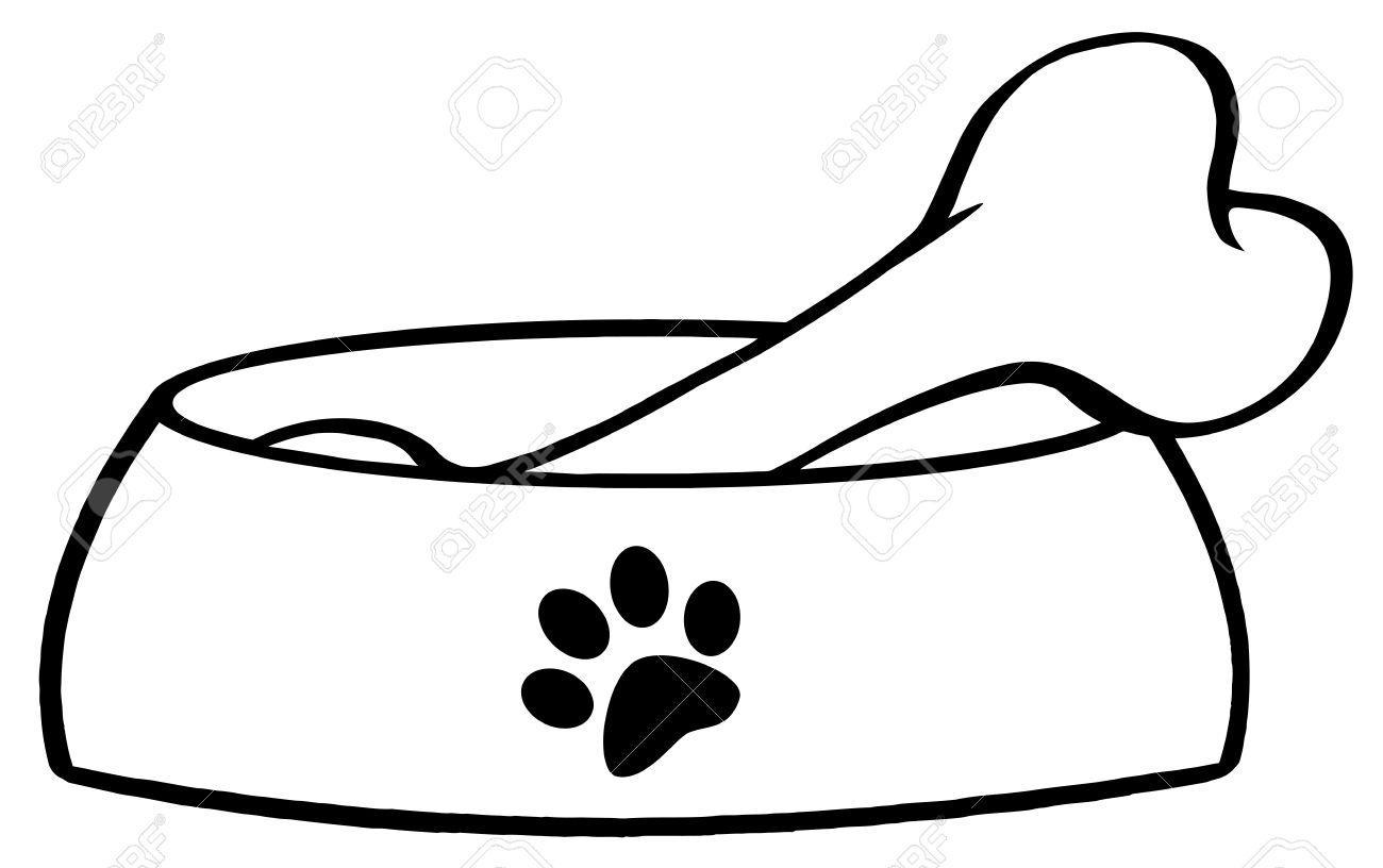 Dog Bone Clipart Black And White