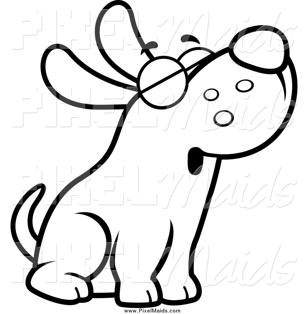 Dog Clipart Coloring