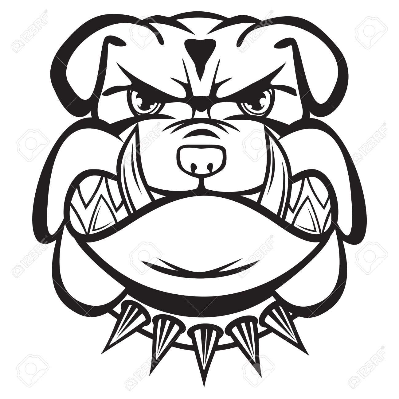 Dog Face Clipart Black And White
