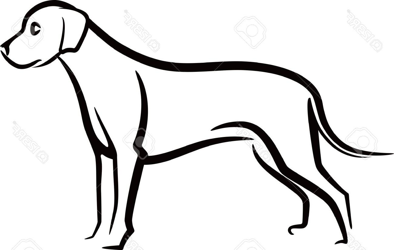 Dog Outline Cliparts