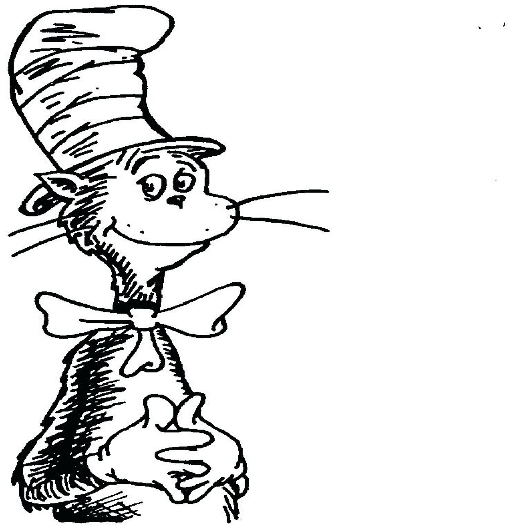 Dr Seuss Coloring Pages Thing 1 And Thing 2