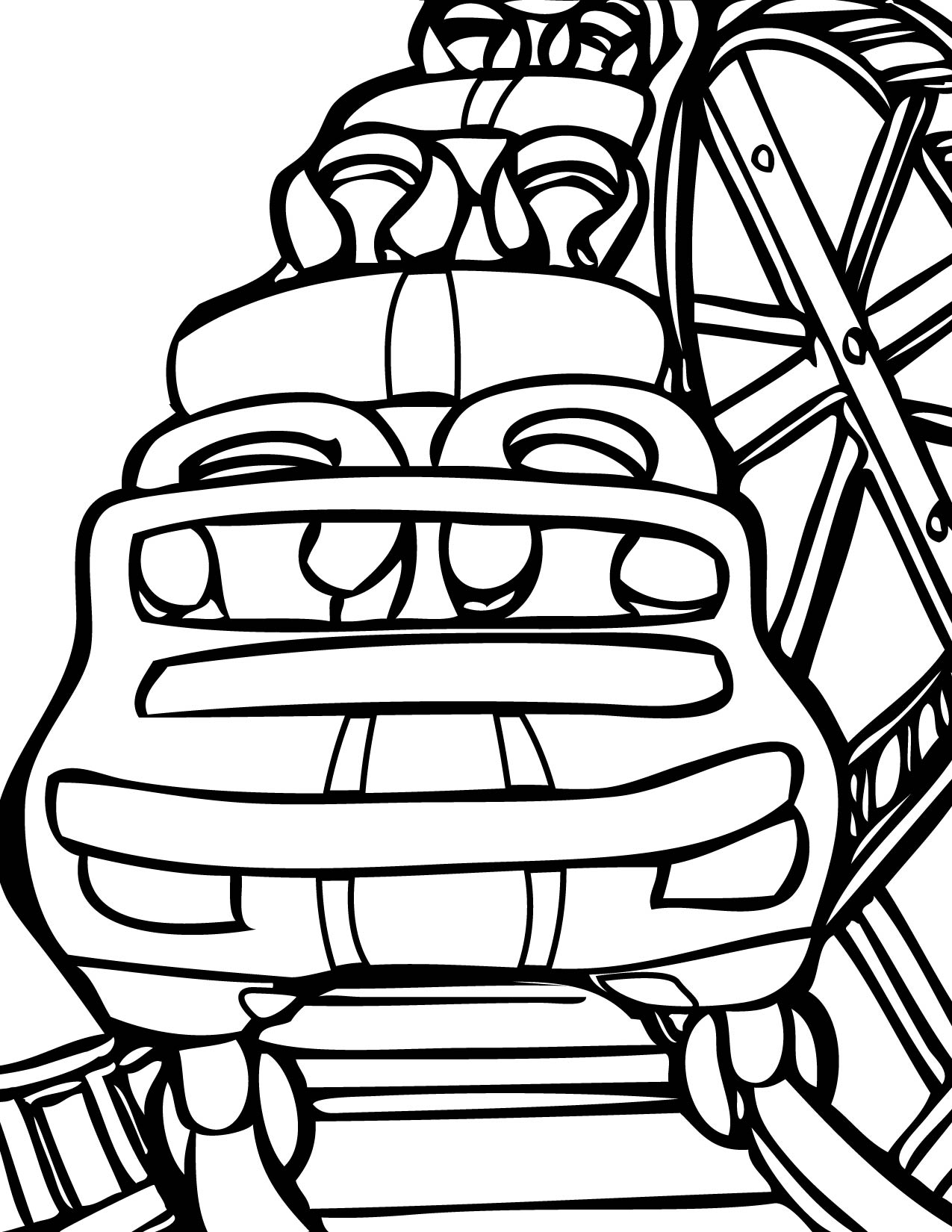 Drawing Of A Roller Coaster