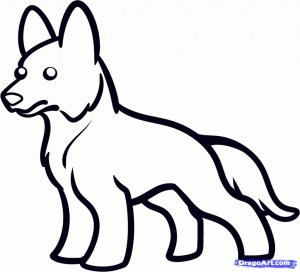 draw german dog easy drawing drawings coloring shepherd pages step animals pencil cartoon husky simple puppy colour clipartmag amazing dogs