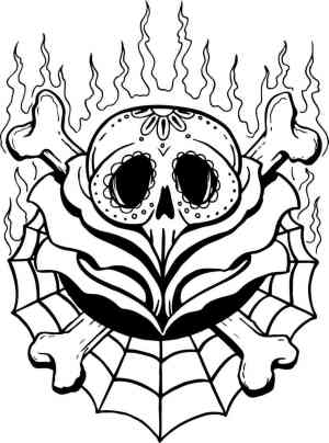 skull rose drawing spider skulls line tattoo drawings easy simple draw tattoos clipart cliparts laura clip flash clipartmag getdrawings library