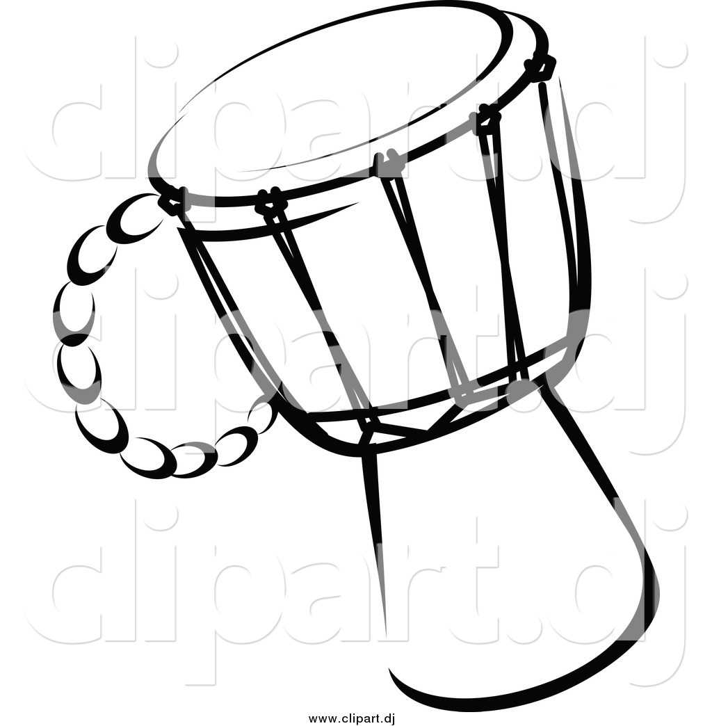 Drum Clipart Black And White