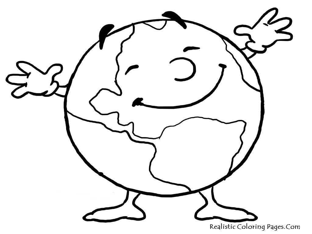 Earth Day Clipart Black And White