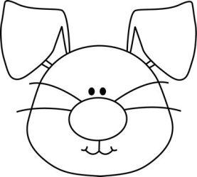 bunny easter clipart clip face rabbit head outline ears bunnies floppy clipartmag graphics