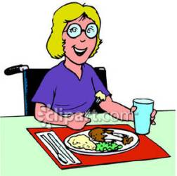 eating clipart lunch dinner lady cafeteria wheelchair clip eat ladies woman panda worker food clipartpanda cliparts clipartmag royalty clipground gess