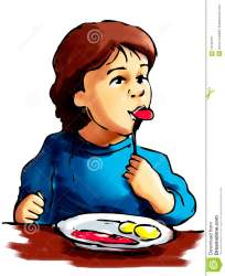 eating boy breakfast clipart illustration having child clipartmag royalty preview