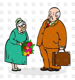 1200x1200 happy elderly couple old man with bouquet of flowers royalty free [ 1200 x 1200 Pixel ]