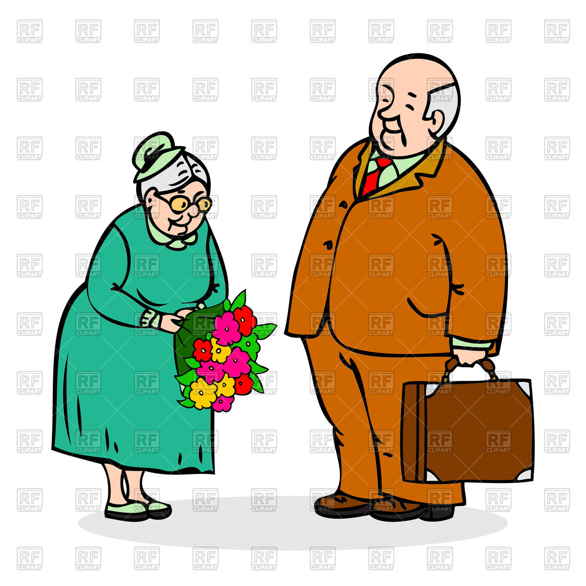 hight resolution of 1200x1200 happy elderly couple old man with bouquet of flowers royalty free