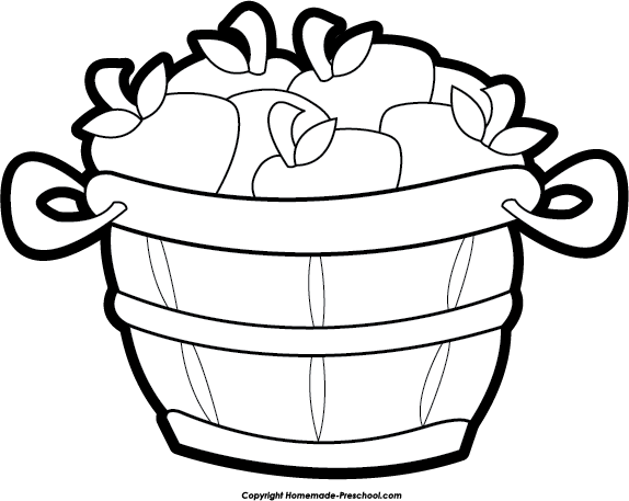 empty apple basket clipart free