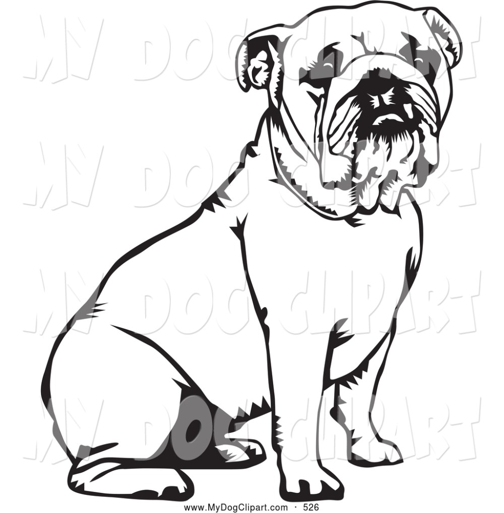 medium resolution of 1024x1044 english bulldog clipart black and white
