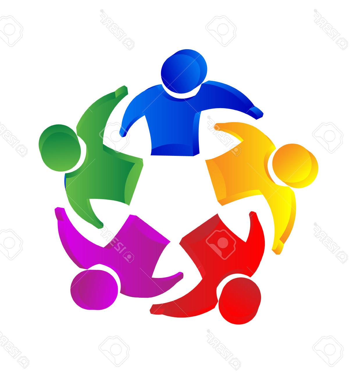 hight resolution of 1235x1300 best 15 teamwork people unity concept icon vector stock family