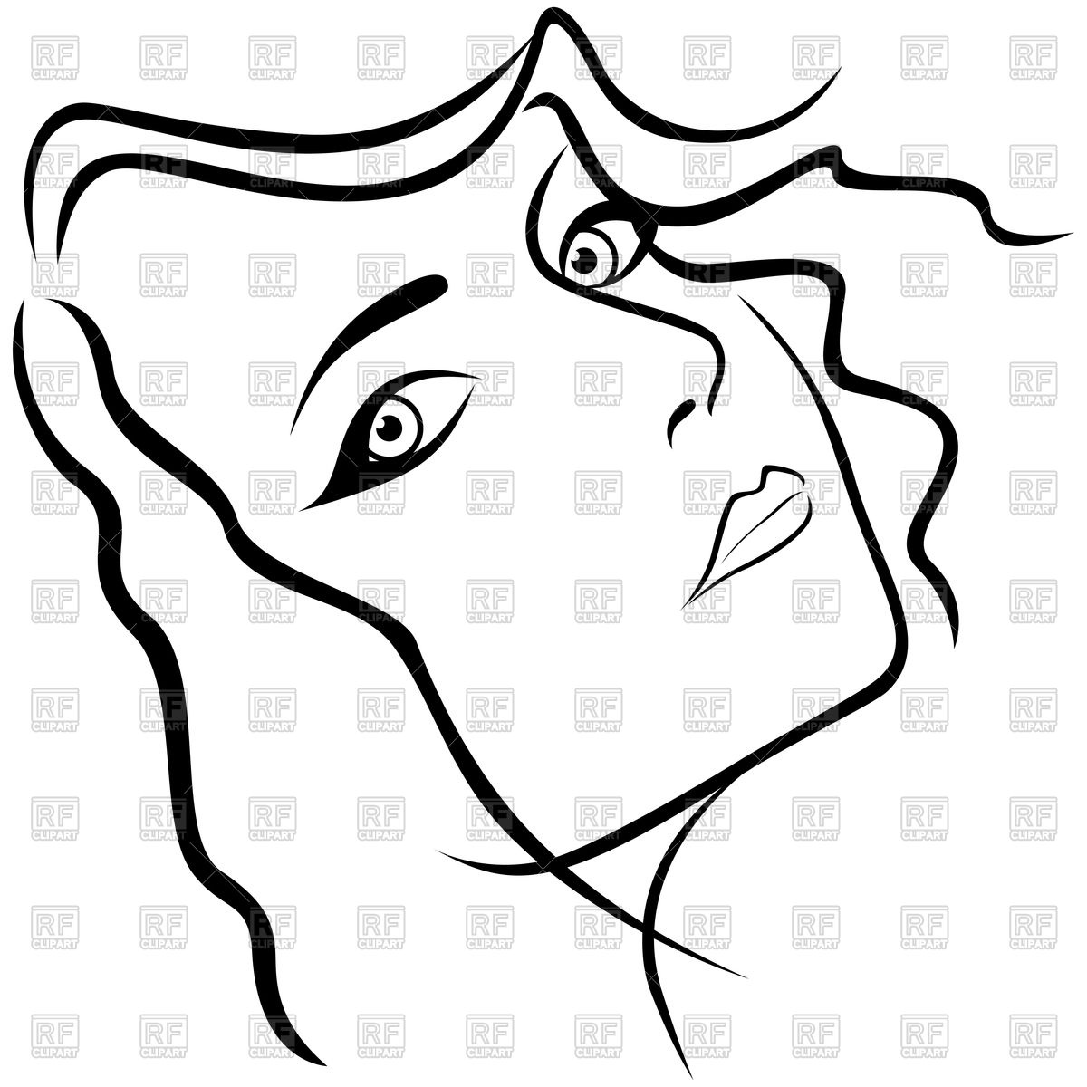 Female Face Outline