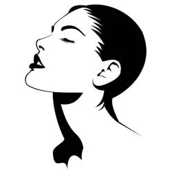 face outline female lady clipartmag