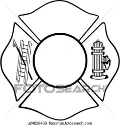 maltese fire cross clip department hydrant clipart emergency vector chief shield outline services offering envelopes badges service cliparts graphic fotosearch