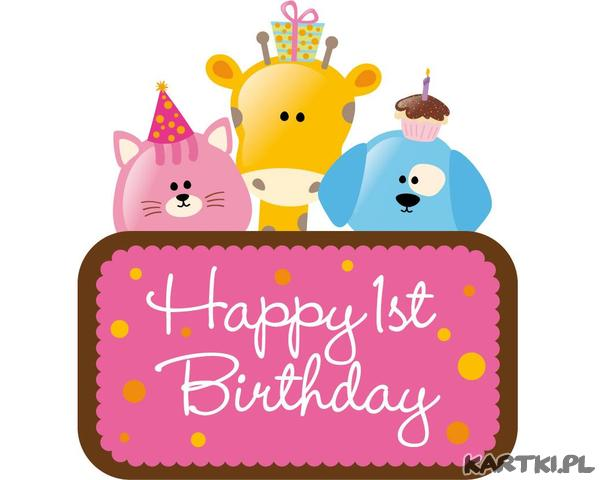 First Birthday Cliparts Free Download Best First