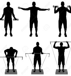 1300x1300 gym fitness silhouette clipart [ 1300 x 1300 Pixel ]