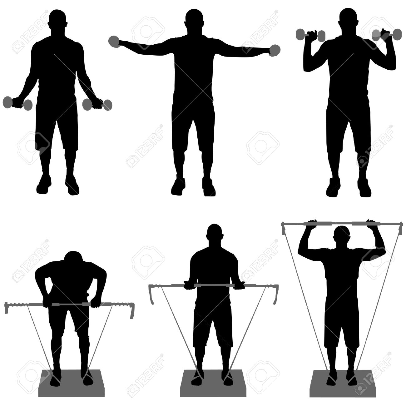 hight resolution of 1300x1300 gym fitness silhouette clipart