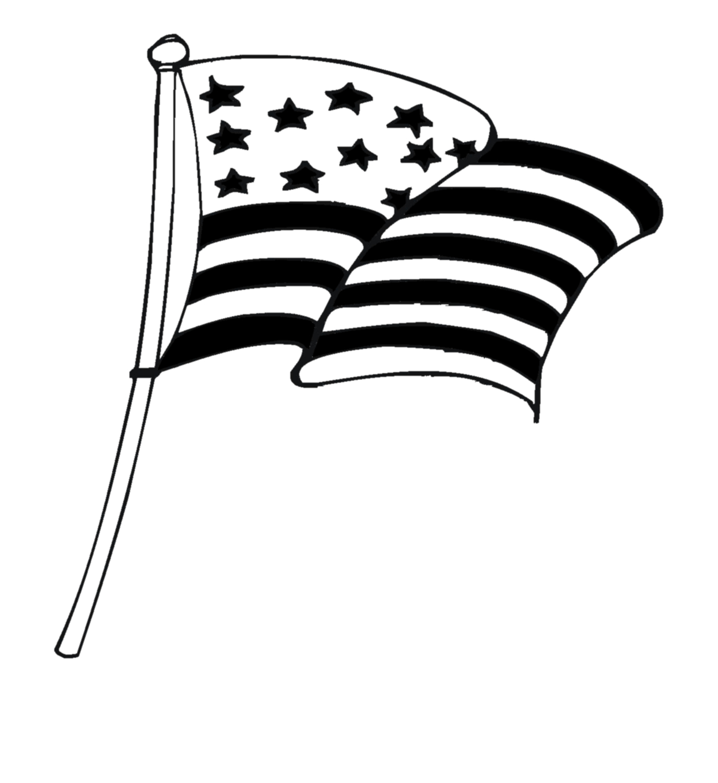 Flag Clipart Black And White