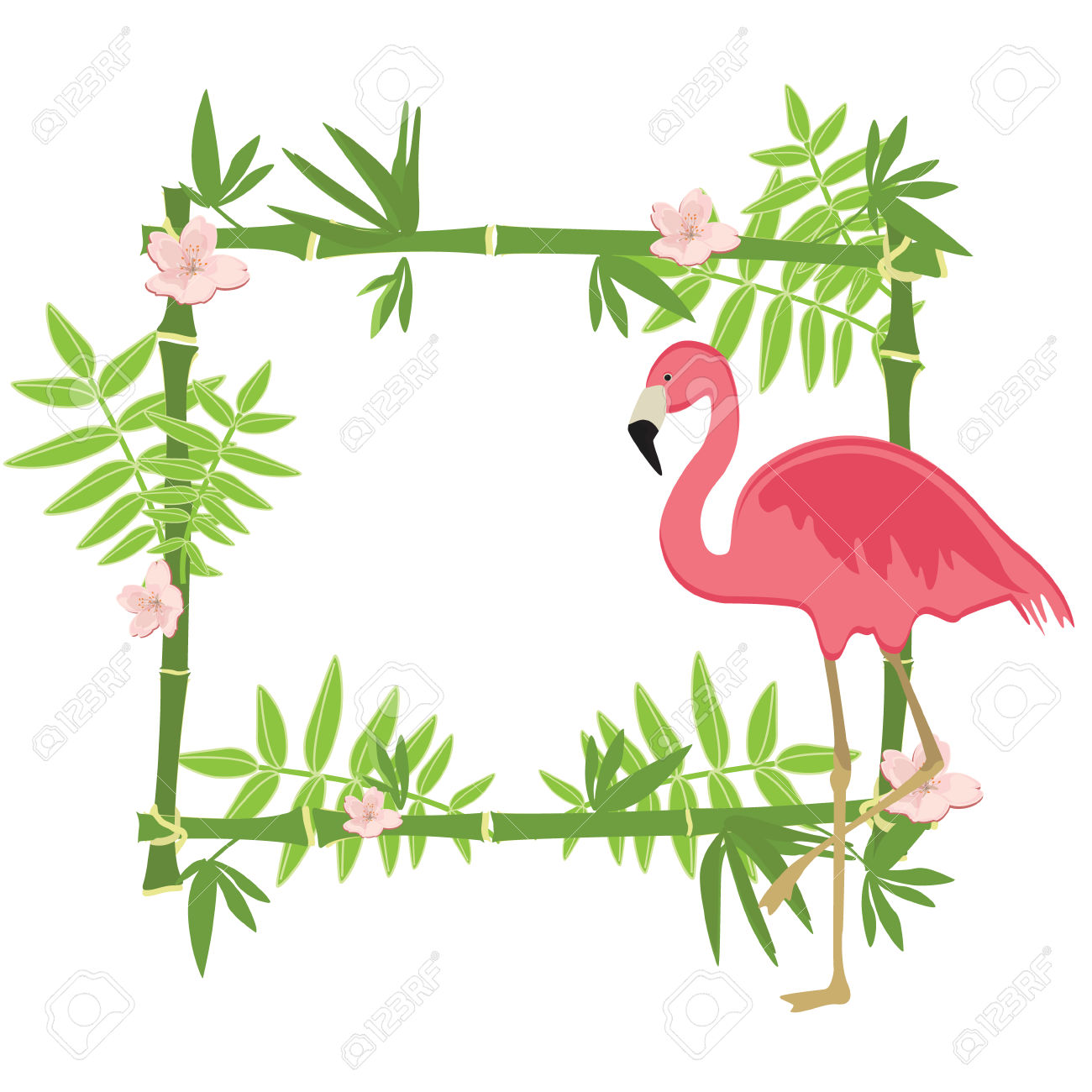 hight resolution of 1300x1300 flamingo clipart border