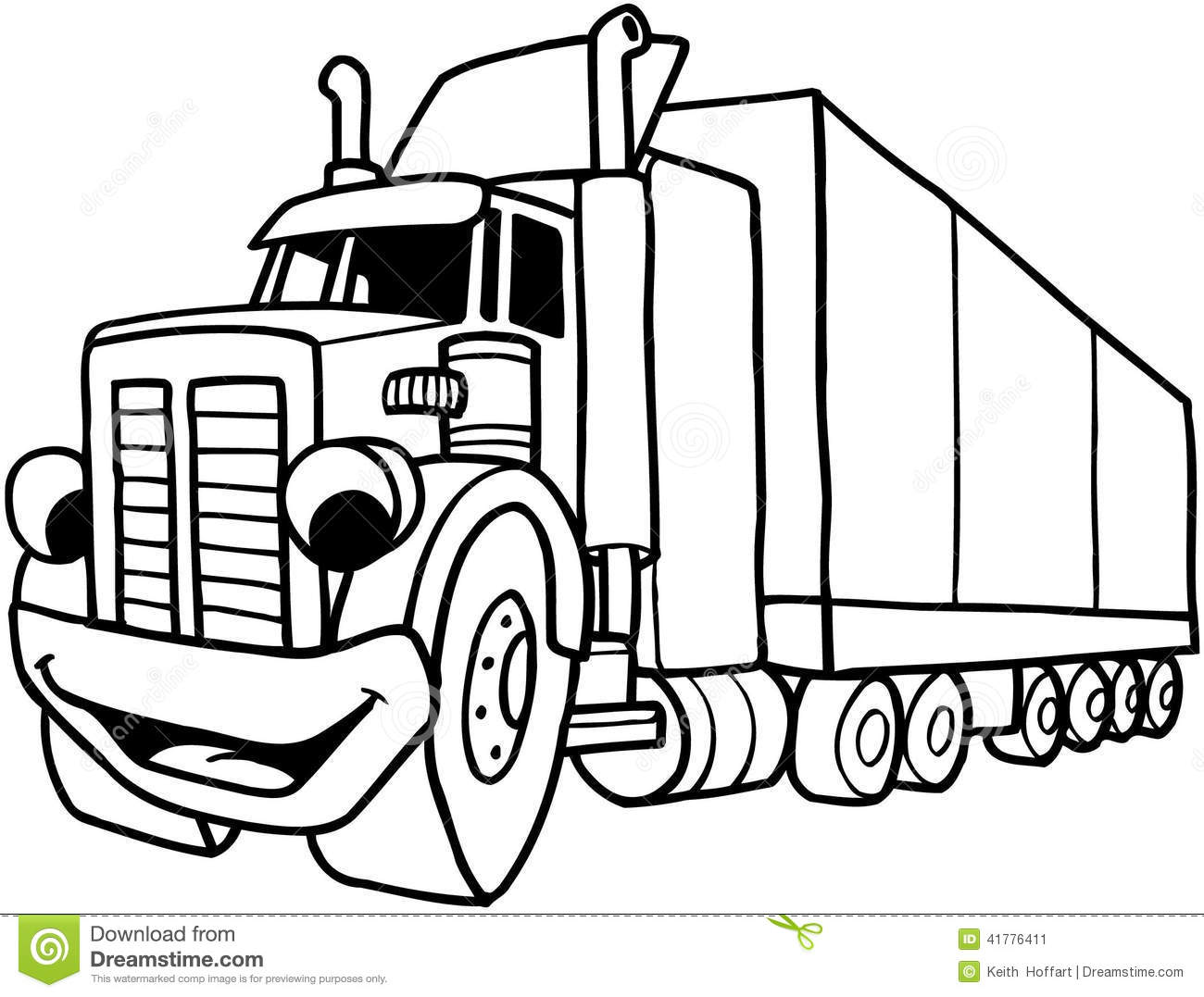 Flatbed Truck Clipart