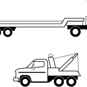 20 Flat Bed Trailer And Truck Coloring Pages Ideas And Designs