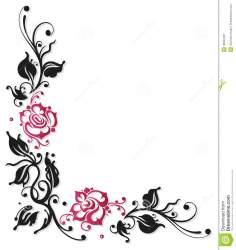 border rose flower clipart pink flowers borders corner frame roses blumen grenze confine fiori rosa simple nam bloemen grens toe