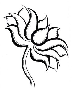 lotus flower drawing line simple flowers draw drawings easy clipart clip clipartmag getdrawings designs