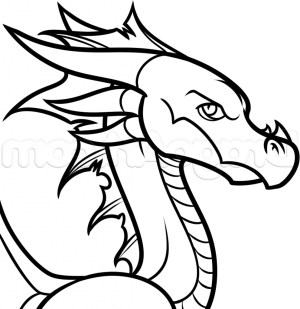 dragon drawing cartoon drawings coloring pages easy draw flying simple chinese dragons sketch clipartmag komodo foot getdrawings orton randy discover