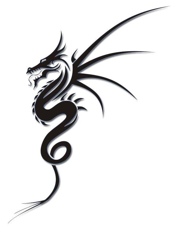 flying dragon sketch free